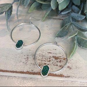 Emerald City Drusy Hoops
